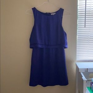 knee length purple dress
